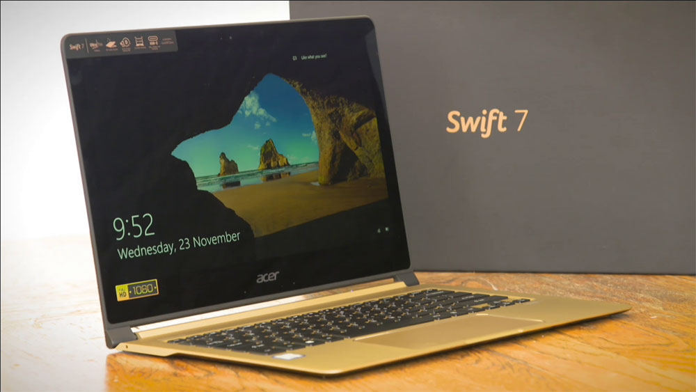 CyberShack TV: A look at the Acer Swift 7 Laptop