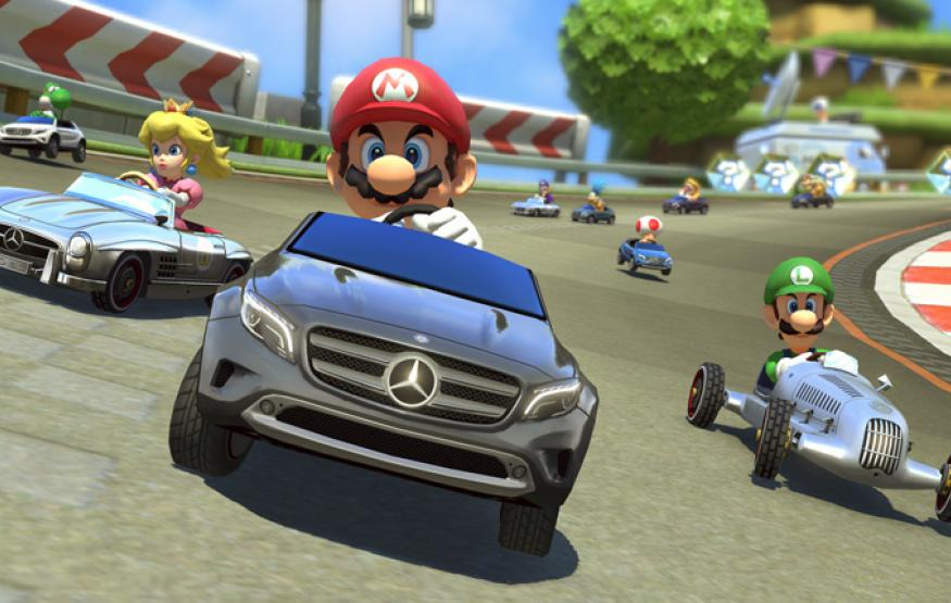 Odd Product Placement: Mario Kart meets Mercedes