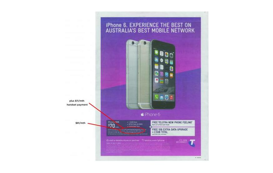 Telstra fined AUD$102,000 for misleading iPhone 6 advertisement