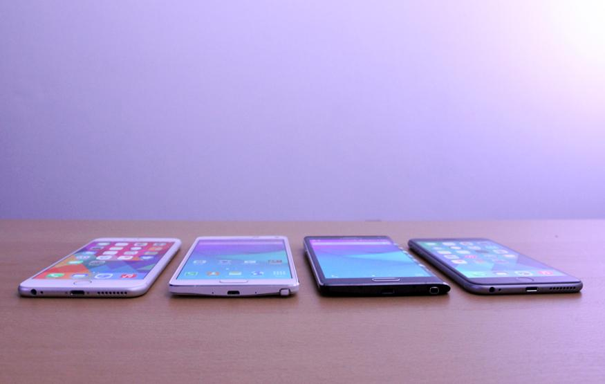 Phablet Face Off: iPhone 6 Plus vs Galaxy Note 4 vs Galaxy Note Edge