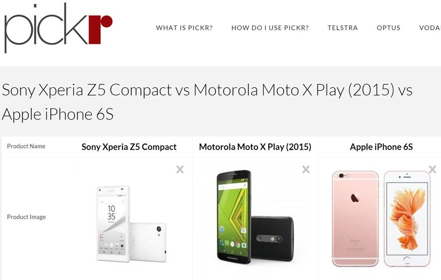 Pickr is a new smartphone comparison tool with a focus on Australian review...