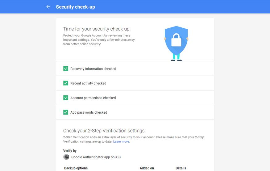 Check your Google security settings for a bonus 2GB of cloud storage