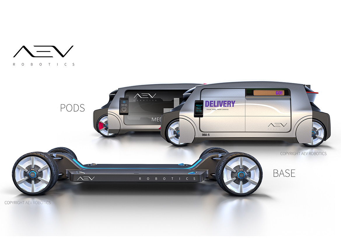 Australian company AEV Robotics announces a modular electric vehicle system...